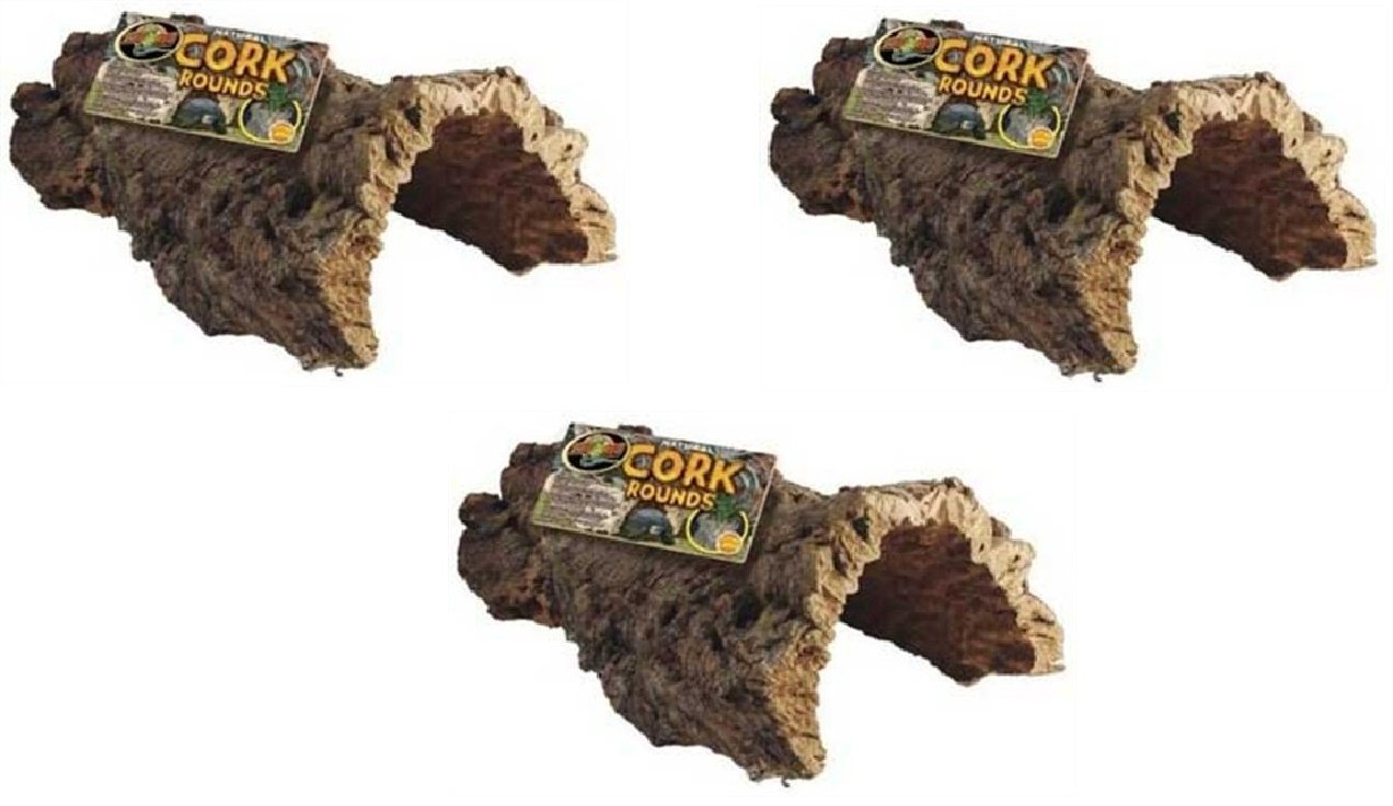 Zoo Med Natural Cork Bark Round, Large (3 Pack) Zoo Med Laboratories Inc
