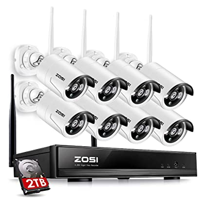 zosi 8ch 960p hd wi fi nvr security wireless network system with 960p 13mp - Nvr Security System