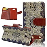 Seedan Samsung Galaxy Alpha Wallet Case (G850) - Totem Decorative Pattern Painting Flip Leather Protective Cover Pouch with Stand Card Slots