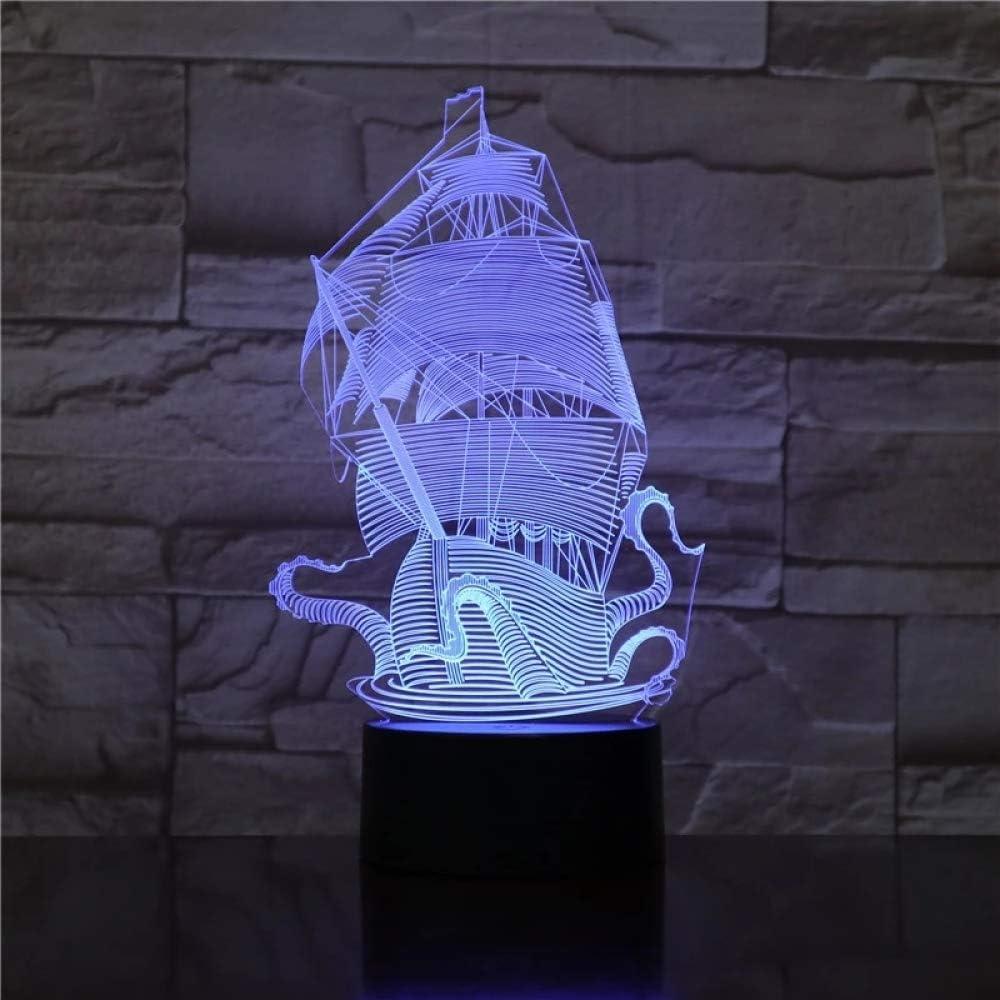 BFMBCHDJ Marine Corps Bermuda barco fantasma barco 7 Lámpara de ...