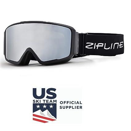 efff3f6e6bb6 Zipline Ski Snowboard Snowmobile Goggles Podium CL No Fog Interchangeable  Magnetic Hybrid Lens System - US