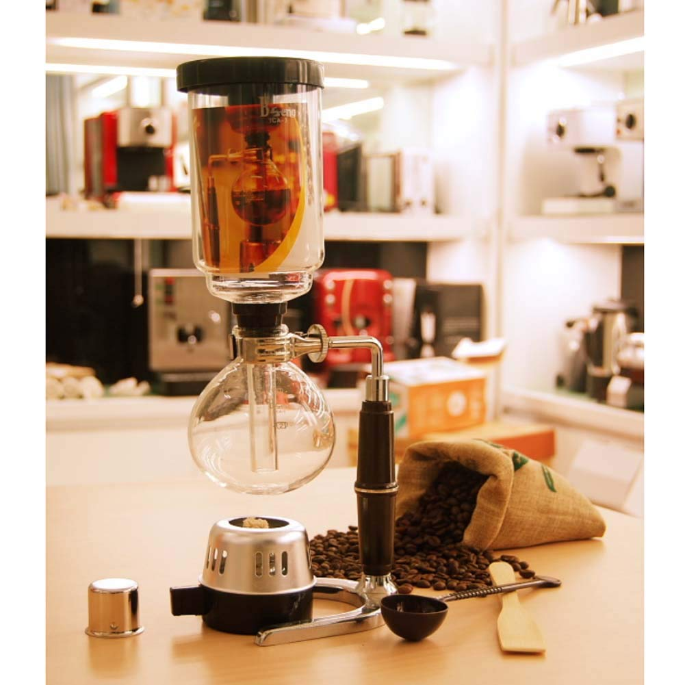Acquisto Coffee Syphon Vetro conveniente Rimovibile e Facile da Pulire Macchina del caffè Caffettiera capacità 3 Tazze Prezzi offerta