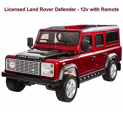 Leisure Traders Land Rover Defender - Coche eléctrico para conducción, color rojo (Producto con