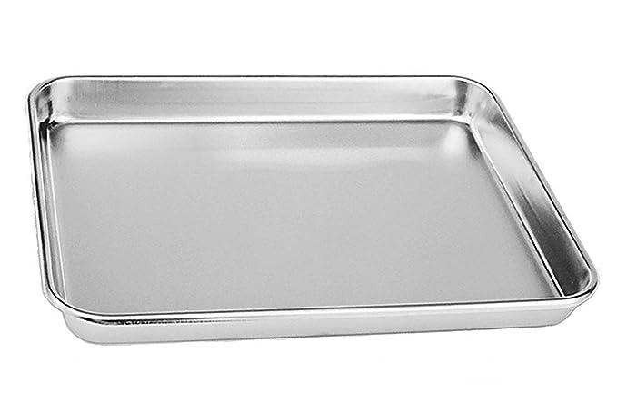 Tspkey - Bandeja compacta de acero inoxidable para horno ...