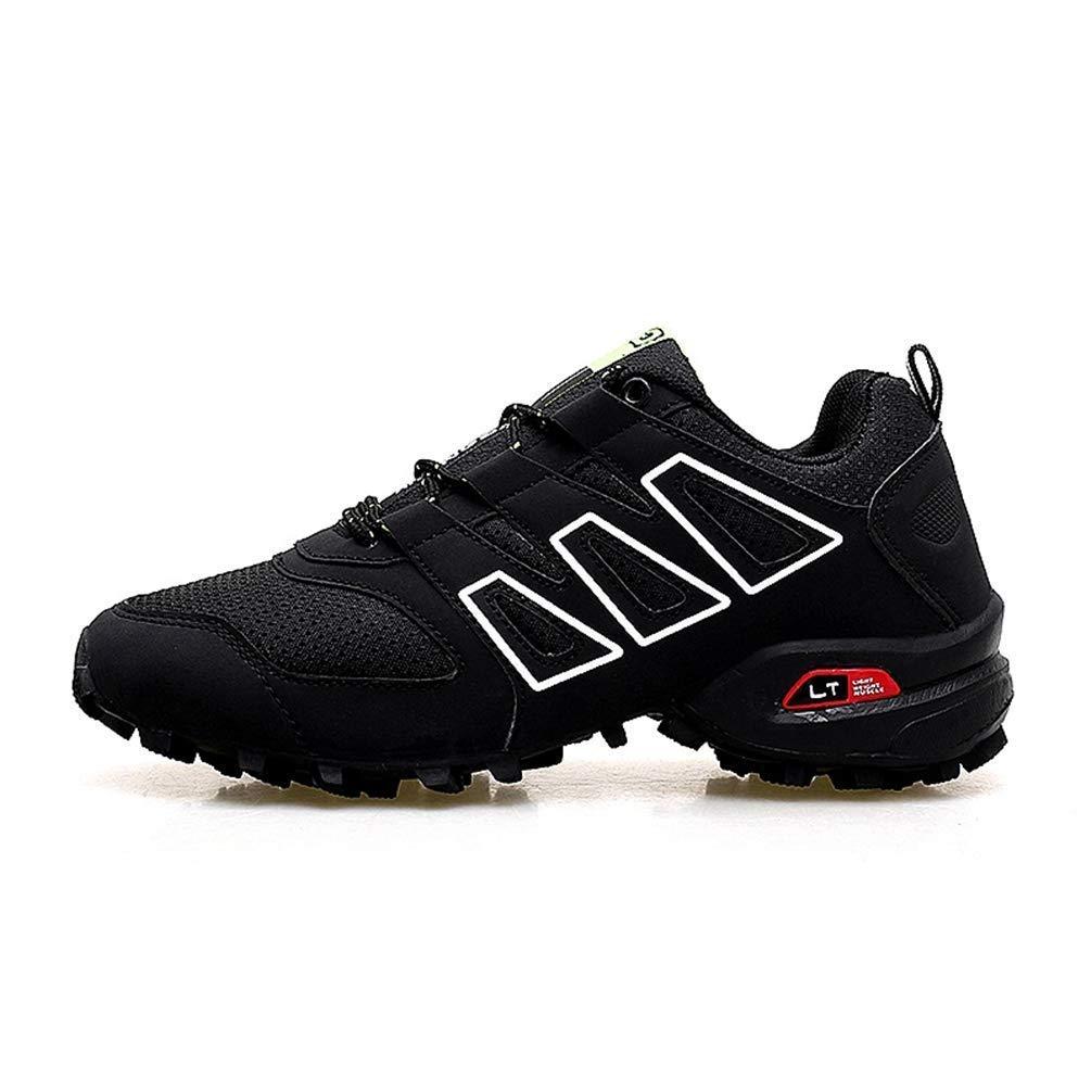 ZHRUI Männer, die Wasserdichte Schuhe im Freien alle Jahreszeiten Laufen, die Sportschuhe Laufen Lassen (Farbe   Schwarz, Größe   9.5 UK)