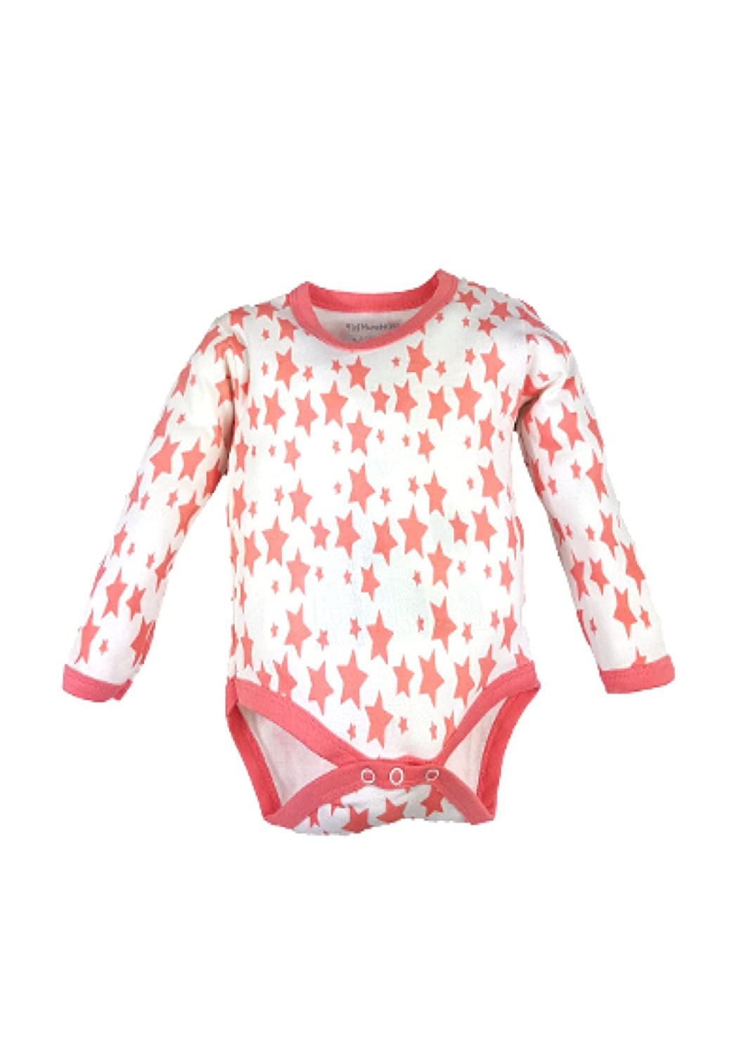 Mini boo 6 Rompers Pink Star Long Sleeve Body Vests Rompers
