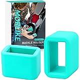 Morlike Silicone Belt Buckle Seatbelt Holder (Light Blue, 2 Pack)