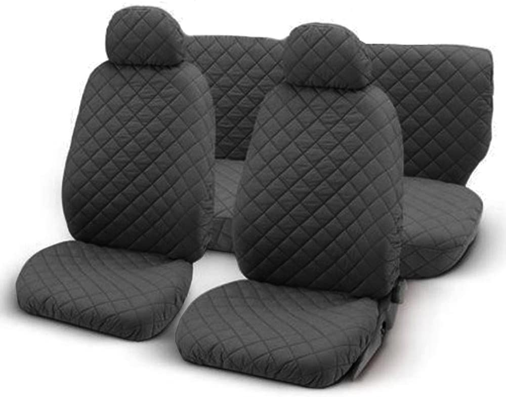 deep grey Lupex Shop trap/_Gs Quilted cotton seat covers