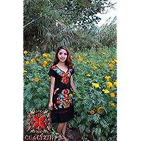 vestido artesanal mexicano bordado de flores
