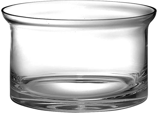 10  Diameter Made in Europe Superb Quality Handmade Barski Thick Straight Sided Salad Bowl European Quality Glass