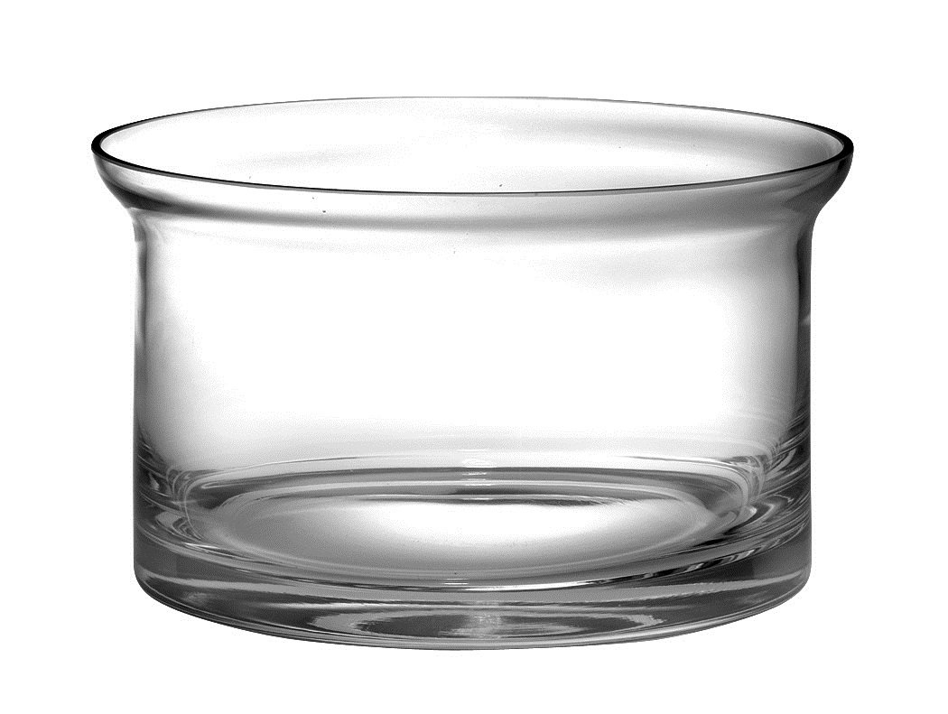 Barski - Handmade - Glass - Thick Flair Salad Bowl - Clear - 10''D (10 Inches Diameter) - Superb Quality - Made in Europe