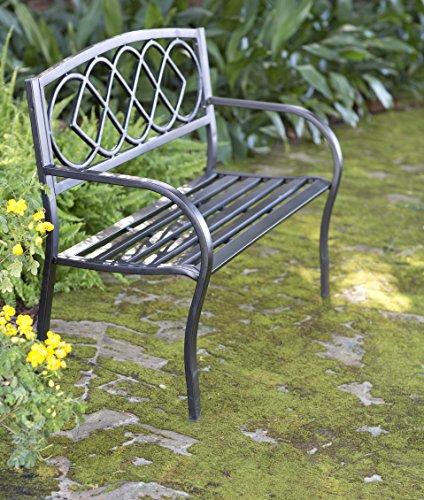 Plow Hearth Celtic Knot Patio Garden Bench Park Yard