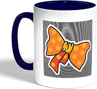 Printed Coffee Mug, Blue Color, Vionka