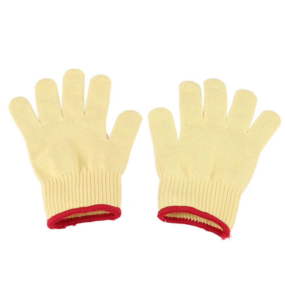 1 Pair Aramid Fiber Cut Resistant Gloves Safety Work Butcher Protection Tool