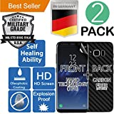 Samsung Galaxy S8 [5.8] 2Pack [FULL BODY COVERAGE] (Front [TPU] + Back [CARBON FIBER]) [Self Healing] Elasticity [Military Grade] Screen Protector [Explosion Proof] Shock Absorbent [Anti Scratch]