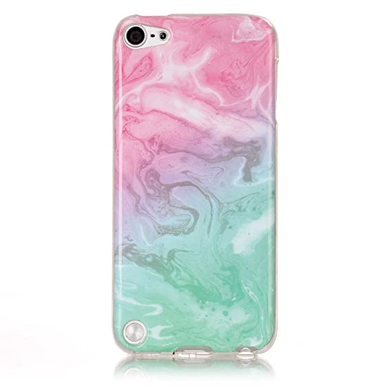 separation shoes b562c bb222 iPod 5 / iPod 6 Pink & Green Marble Case,IVY [Marble] iPod Touch 5/6 Case  Cover for iPod Touch 5 / iPod Touch 6 Phone