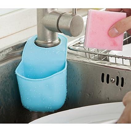 3629ee2bdfec6 ZaH Hanging Soap Box Plastic Soap Holder Soap Bag for Shower, Kitchen (Sky  Blue)