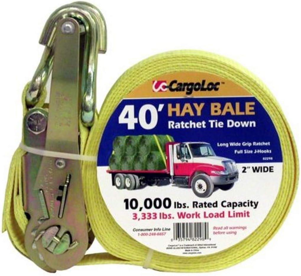 10 // Box Pack Flat Hooks CargoLoc 82292CC 2 /& 4 Ratchet Tie Downs//Strap 2 x 27 x 10,000 lbs