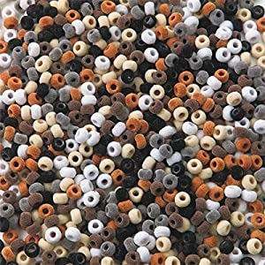 Fuzzy Pony Beads Asst. Natural Colors (bag of 850) by S&S