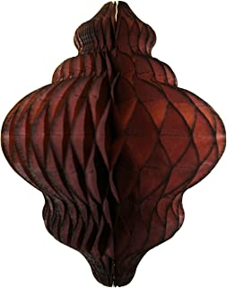 product image for 3-Pack 11 Inch Paper Lantern Decoration, Brown