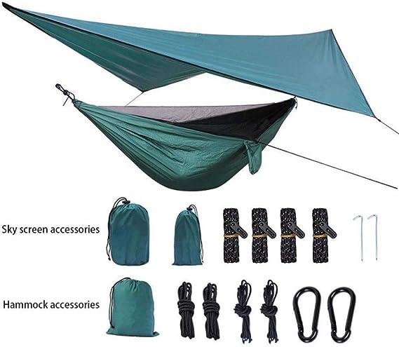 Easthills Outdoor 125x 79 Portable Doppel Camping H/ängematte mit abnehmbarem Moskitonetz