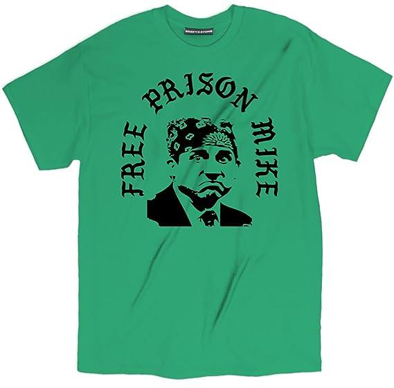 d9e5d654 Misky & Stone Free Prison Mike Scott The Office T Shirt Unisex Cotton Tee S-
