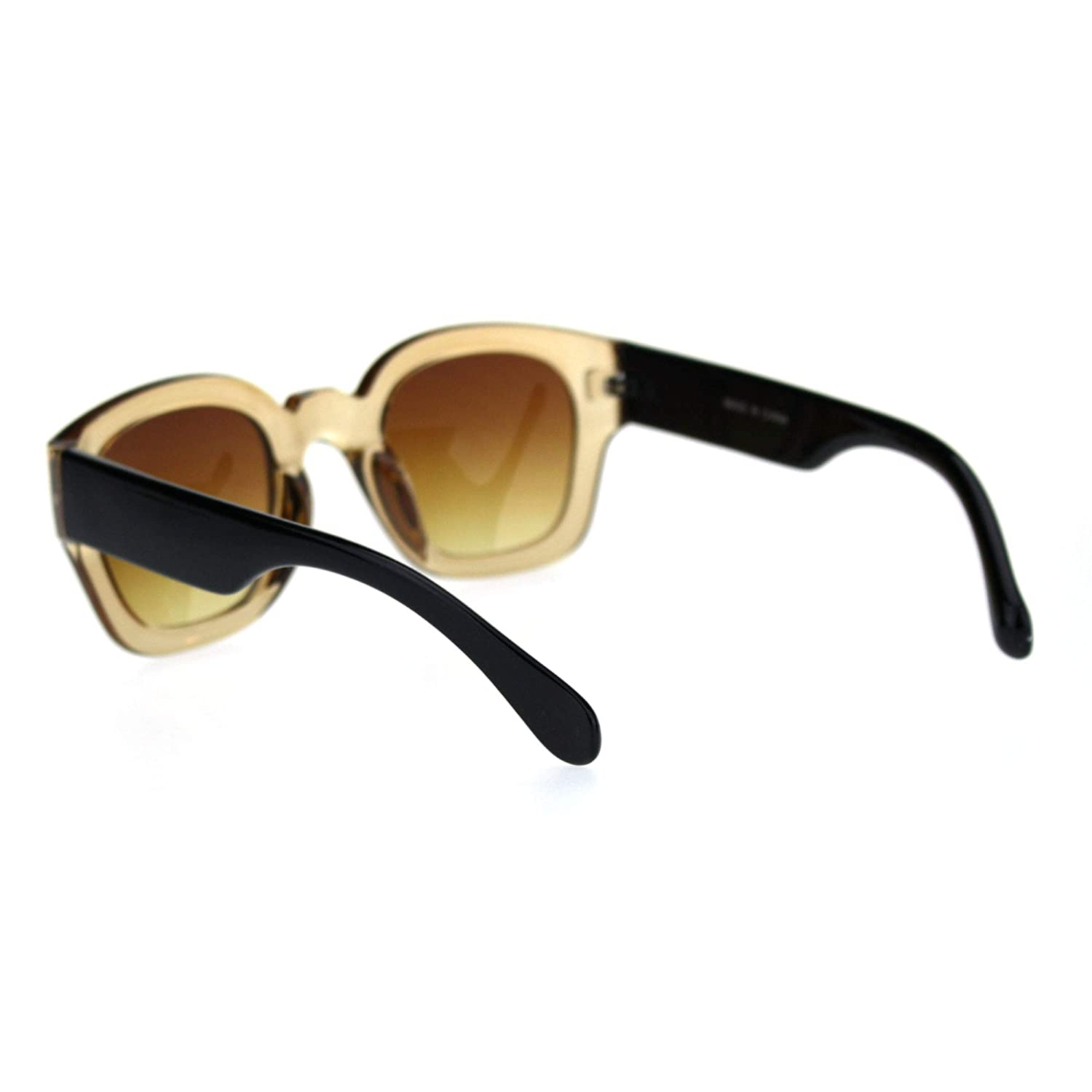 Mens Thick Vintage Plastic Nerdy Hipster Retro Sunglasses