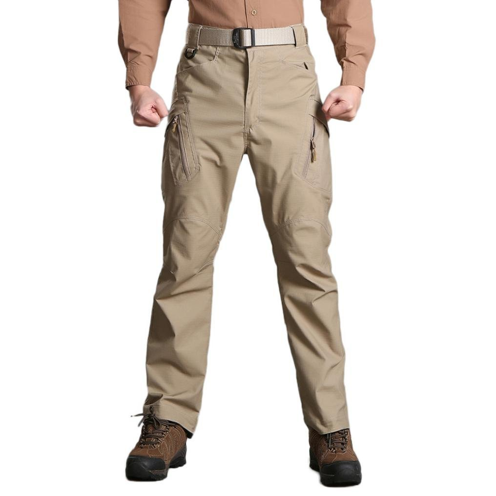 PASATO New!Men's Casual Tactical Military Army Combat Outdoors Work Trousers Cargo Pants(Coffee , XXXL)