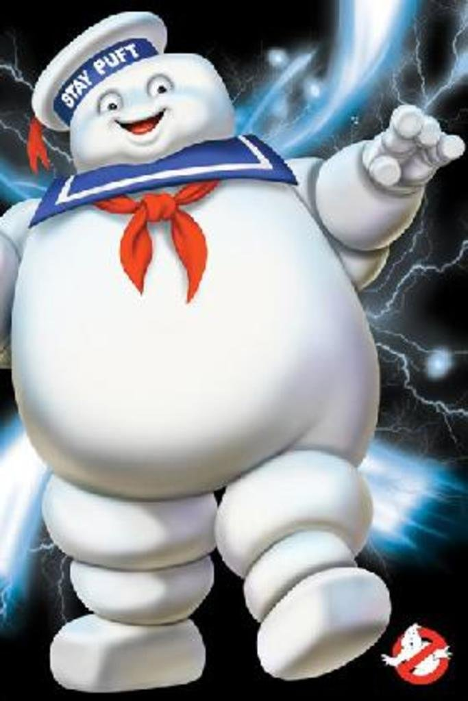 Pyramid America Ghostbusters Stay Puft Paranormal Monster Marshmallow Supernatural Comedy Film Movie Poster 24x36 inch