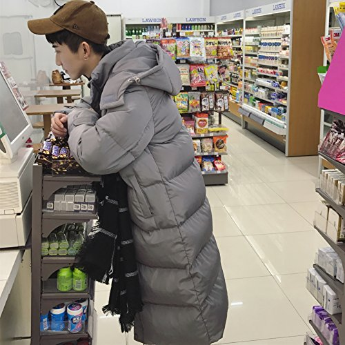 Xuanku Winter Bread Down Jacket Couple Cotton Dress Long Section Thick Knee Jacket Jacket Jacket Women Grey