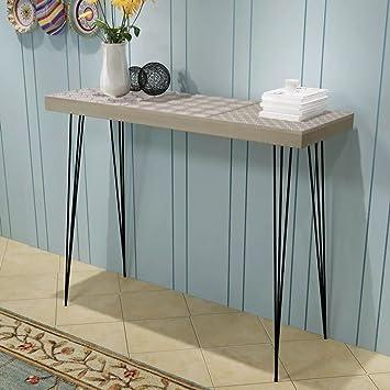 Fesjoy Console Minimaliste Table D Entree Table De Canape Stable 90 X 30 X 71 5 Cm Gris Pour Les Entrees Salon Et Chambre A Coucher