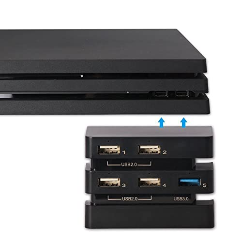 Ps4 Pro Usb Hub 3 0 Elecgear 5 Ports Usb Extender