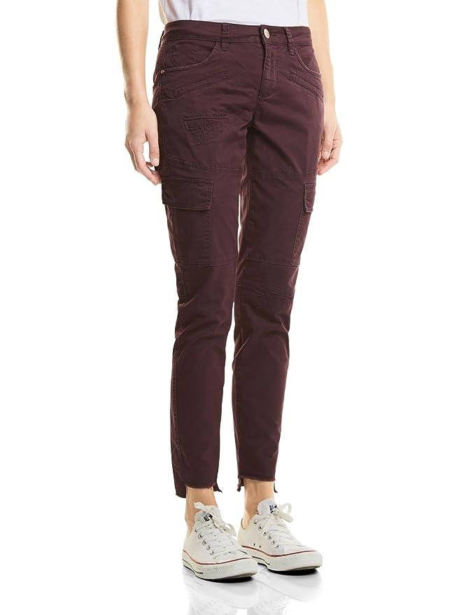 Womens Velours Carly Mw Slimfit Pantalon Slimleg Rue tbkhj1F