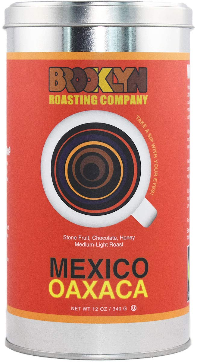 Brooklyn Roasting Company Fair Trade Certified Mexico Coffee: 12oz Tin [WHOLE BEAN]