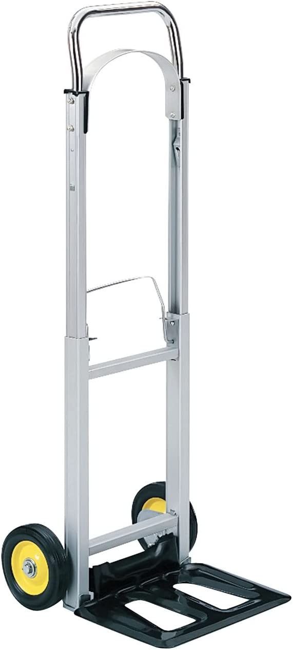 Safco Hide-Away Office Industrial Folding Wheeled Luggage Storage Cart Aluminum Hand Truck