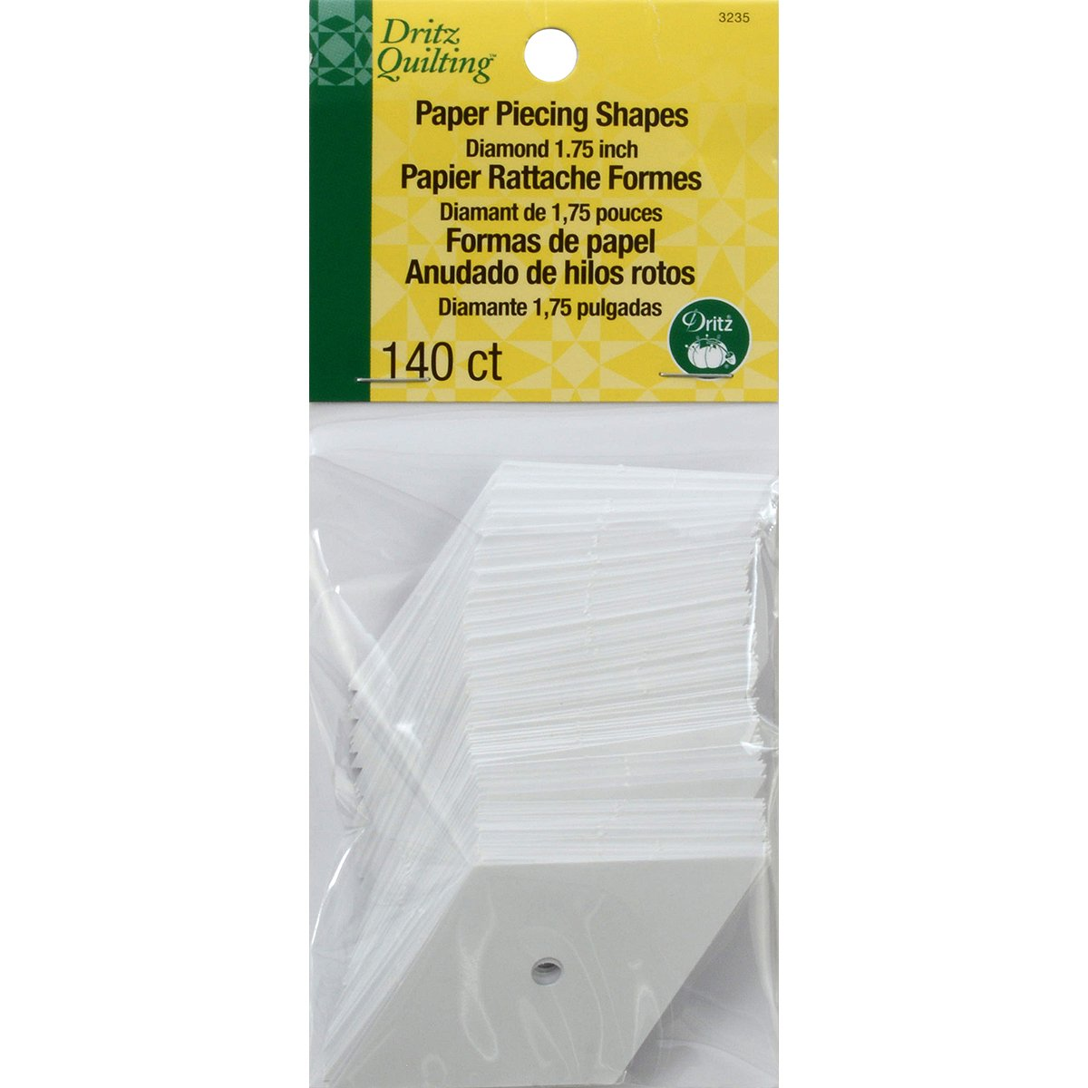Dritz Quilting Paper Piecing 60 Degree Diamond-1.75-inch 140/Pkg 3235