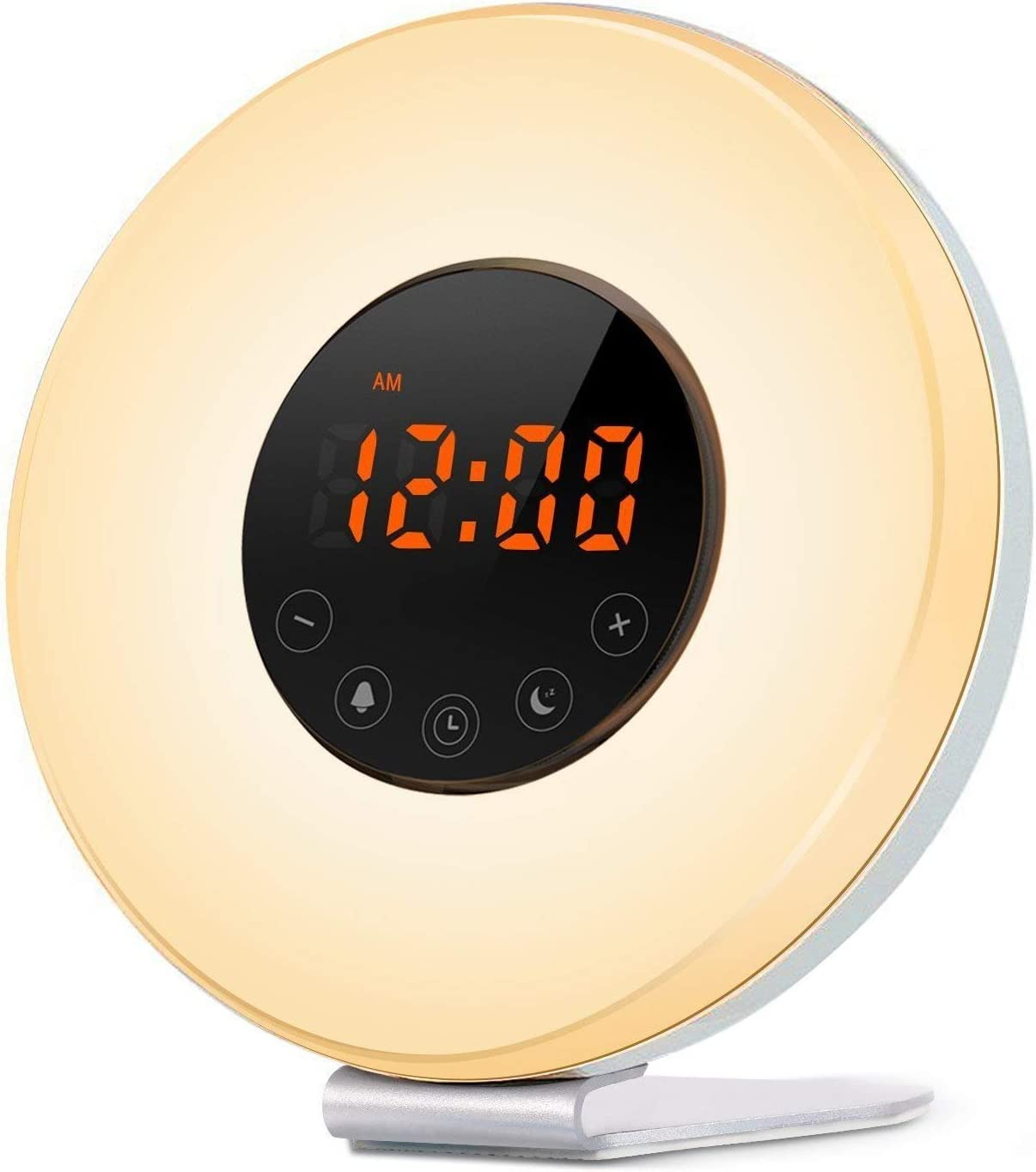 PowMax ウェイクアップライト 目覚まし時計 ベッドサイドランプ アラーム時計