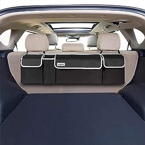 Julema Backseat SUV Trunk Organizer, Car Seat Hanging Storage Organizer - Free Your Trunk Space