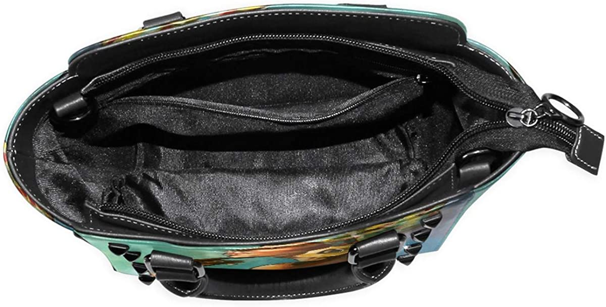 FANTAZIO Handbag Shoulder African Masks Shoulder Handbag