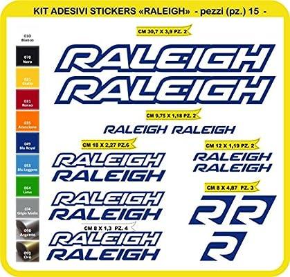 Kit Pegatinas Stickers Bicicleta Raleigh -15 Piezas- Bike Cycle Cod. 0805 (049 BLU Royal): Amazon.es: Deportes y aire libre