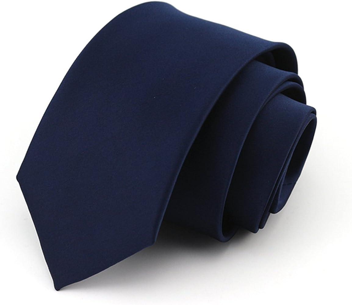 HXCMAN NeckTie 100% tejido de seda corbata 8cm marina: Amazon.es ...