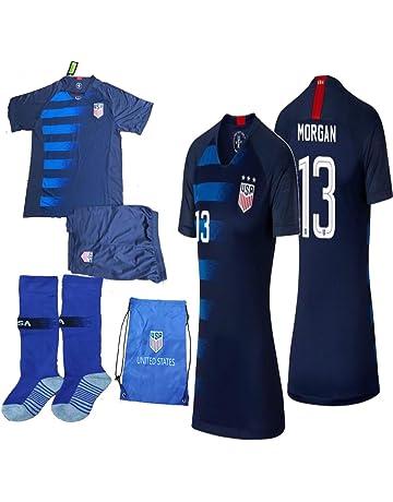 USA Soccer Team Christian Pulisic Carli Lloyd Alex Morgan Replica Kid Jersey  Kit   Shirt 729c2b8ae