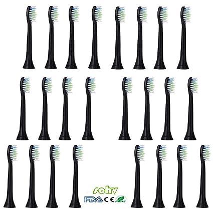 SOHV® estándar de repuesto cabezales de cepillo Compatible con Cepillo de dientes eléctrico Philips Sonicare