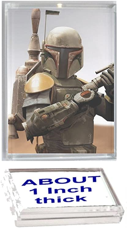 Star Wars Boba Fett Acrylic Executive Display Piece or Desk Top Paperweight