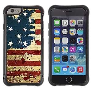 Kobe Diy Case Rugged hybrid Protection Impact Case Cover FOR iPhone 6 Plus CASE Cover ,iphone 6 5.5 case,iPhone 6 Plus cover ,Cases for iPhone 6 Plus 5.5 / GRUNGE VINTAGE USA FLAG /