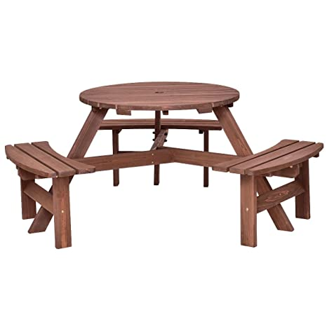 Amazoncom Heize Best Price Outdoor Wood Picnic Table Beer Bench