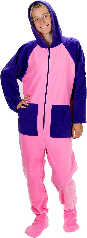 Kajamaz Algodón de Azúcar Pijama de una Pieza con Pies para Adultos, Pijama Entero con Pies para Adultos y Niños en Color Púrpura y Rosa: Amazon.es: Ropa y accesorios