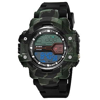 Rcool Relojes suizos relojes de lujo Relojes de pulsera Relojes para mujer Relojes para hombre Relojes deportivos,Reloj multifunción deportivo LED digital.