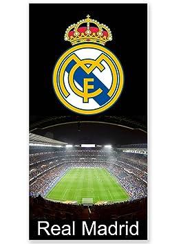 Real Madrid C.F. Telo Mare Nero 150x75 Cm: Amazon.it: Casa E Cucina