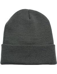 fbb23311547 Beanie Men Women - Unisex Cuffed Plain Skull Knit Hat Cap
